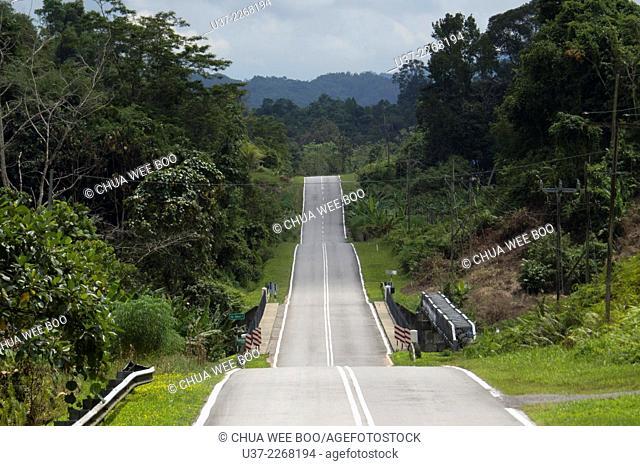 A road to Kampung Bengoh, Sarawak, Malaysia