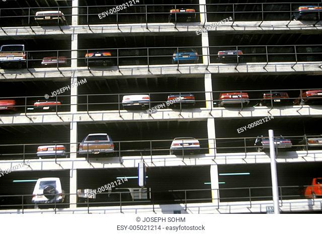 A filled parking lot in Atlanta Georgia