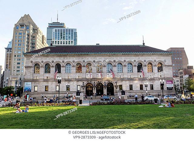 Boston Public Library Copley Sqare Boston MA USA Massachussets