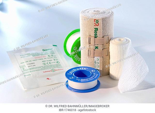 Dressing material, medical adhesive tape, plaster