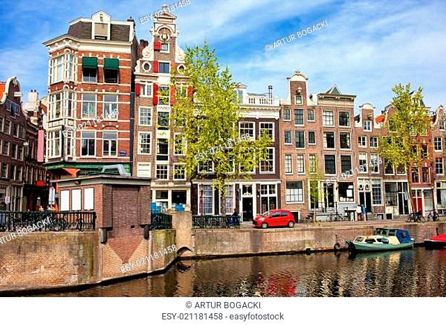 Dutch Canal Houses in Amsterdam