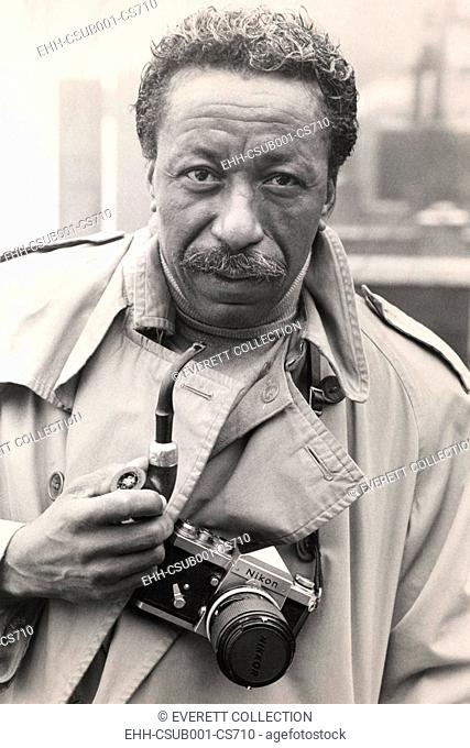 Gordon Parks Jr., African American master photographer in 1968. Photo was taken during the creation of a CBS Television presentation, hosted by Harry Reasoner
