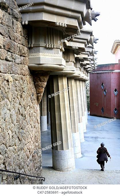 Hypostyle Hall. Park Güell, Barcelona, Spain