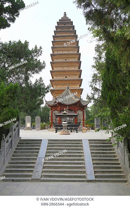Qiyun Pagoda (1175), Luoyang, Songshan, China