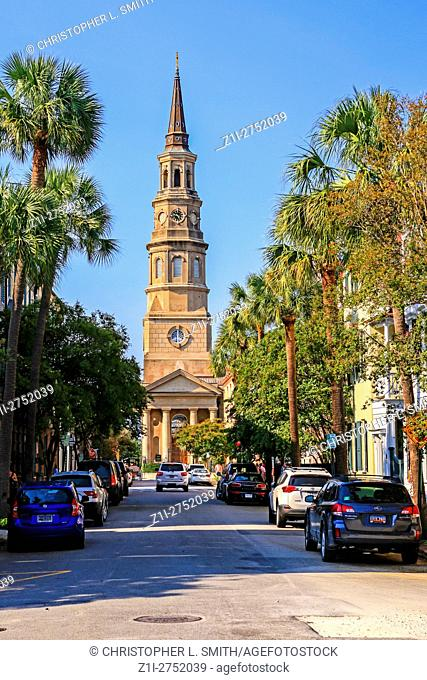 St. Philip's Episcopal Church, the state's oldest congregational church in Charleston SC at 142 Church Street
