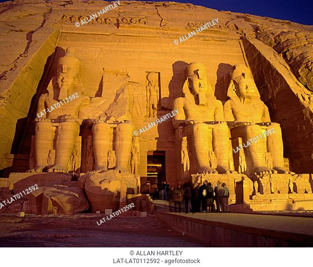 Abu Simbel is an archaeological site comprising two massive rock temples.The UNESCO World Heritage Site known as the Nubian Monuments were originally carved out...