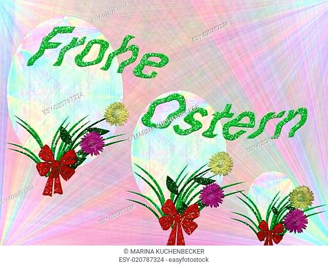 decorated in pastel color card easter festival for