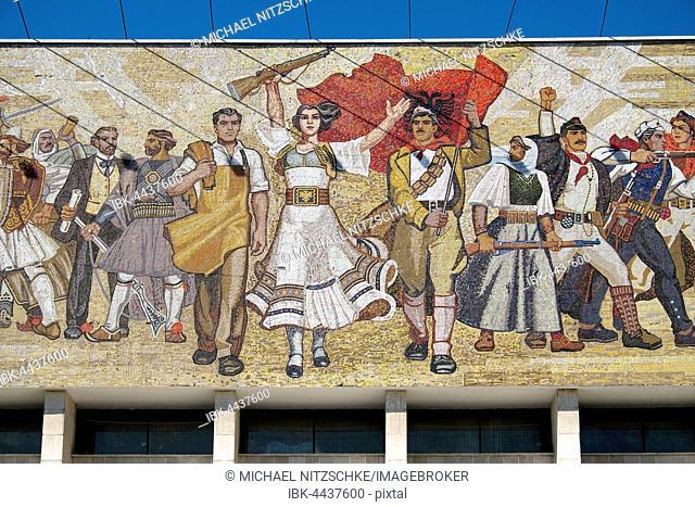 Wall mosaic, National History Museum, Tirana, Albania