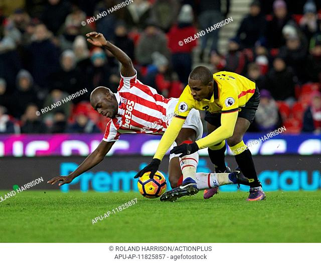 2017 EPL Football Stoke City V Watford Jan 3rd. 03.01.2017. bet365 Stadium, Stoke on Trent, Staffordshire, England. EPL Premier league football