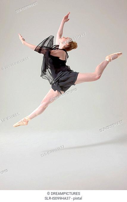 Ballet dancer in mid air