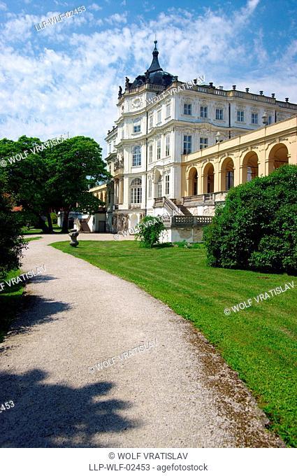 Park of Ploskovice Chateau, Usti nad Labem Region, Czech Republic