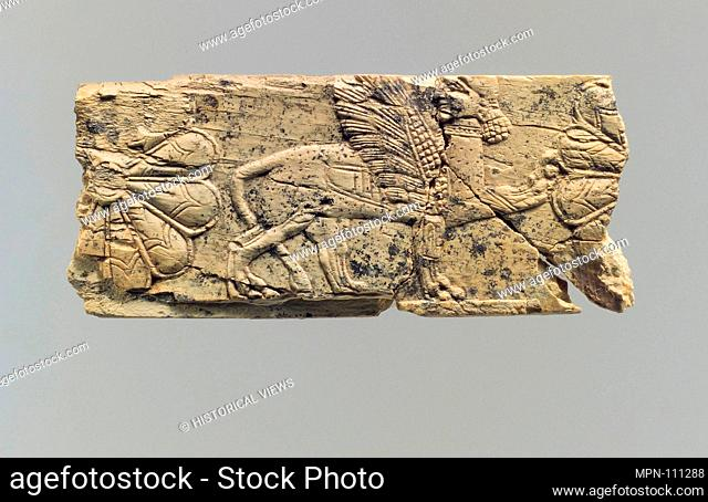 Panel fragment. Period: Iron Age III; Date: ca. 8th-7th century B.C; Geography: Iran, said to be from Ziwiye; Culture: Iran; Medium: Ivory; Dimensions: 0