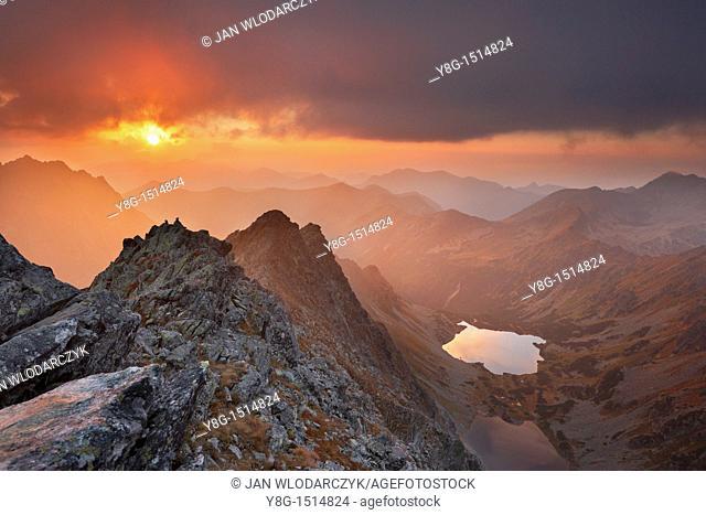View from Koprowy Peak, Tatra National Park, Slovakia, Europe