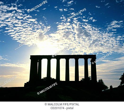 The National Monument. Calton Hill. Edinburgh. Scotland