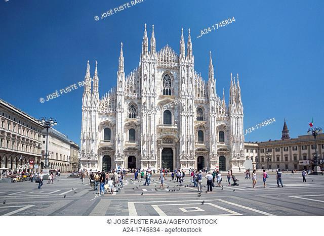 Italy , Milano City ,Duomo Cathedral