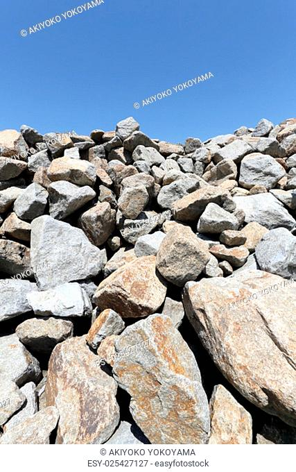Gravel piles in a quarry