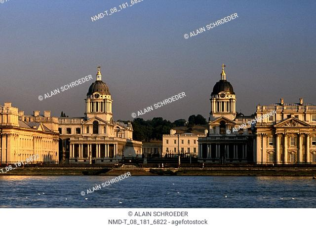 Buildings at the waterfront, Royal Naval College, Greenwich, London, England