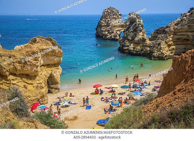 Camilo beach. Ponta da Piedade. Lagos. Faro district. Algarve. Portugal