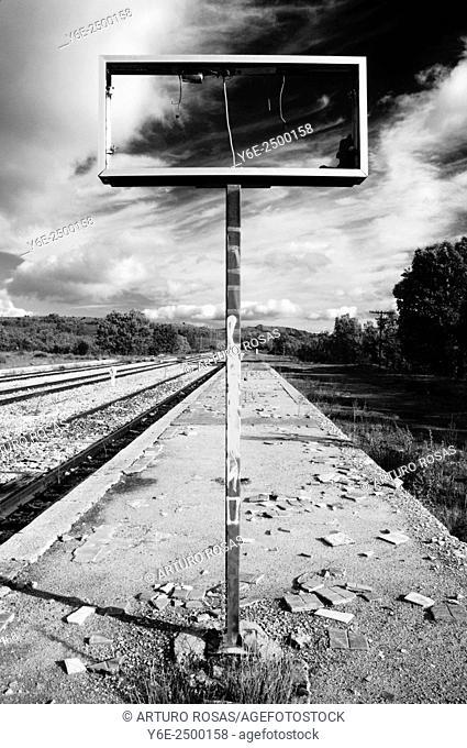Old railway station. Buitrago de Lozoya, Madrid province, Spain