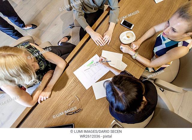 Group of businesswomen having a meeting