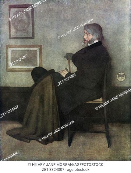 Thomas Carlyle, 1795 - 1881. Scottish philosopher, satirical writer, essayist, historian and teacher. After the painting by James McNeill Whistler