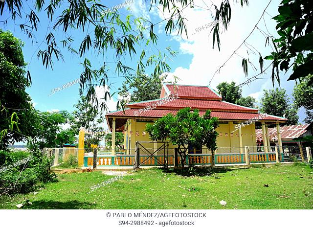 Wat Tou Te Ang in Koh Trong island, Kratie province, Cambodia