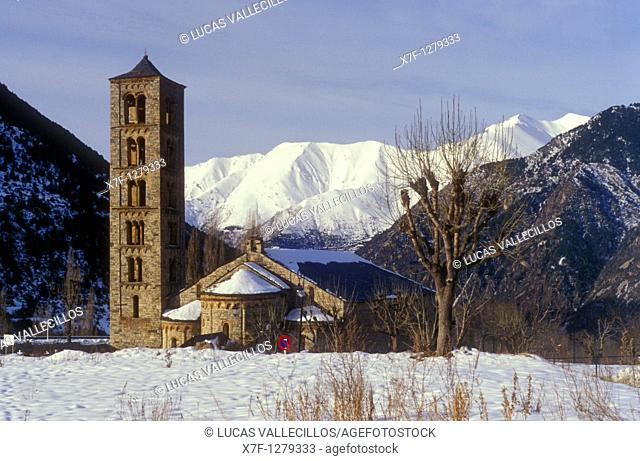 Church of Sant Climent Romanesque church  Taüll  Boí valley Lleida province  Catalonia  Spain