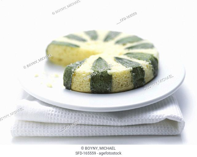 Small cake with sage leaves