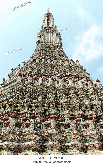 Bangkok, Thailand - March 03, 2014: Details of the Wat Arun, temple (Temple of Dawn) in bangkok thailand