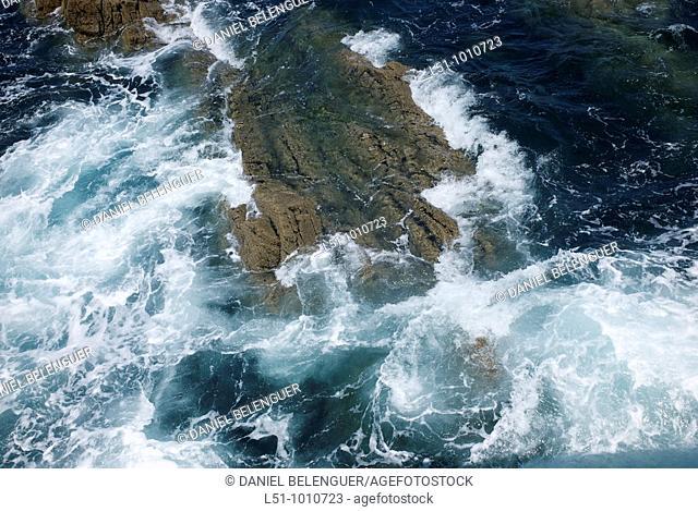 waves on the Cantabric Sea, near Cudillero, Asturias