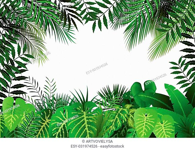 Illustration of Jungle on white background
