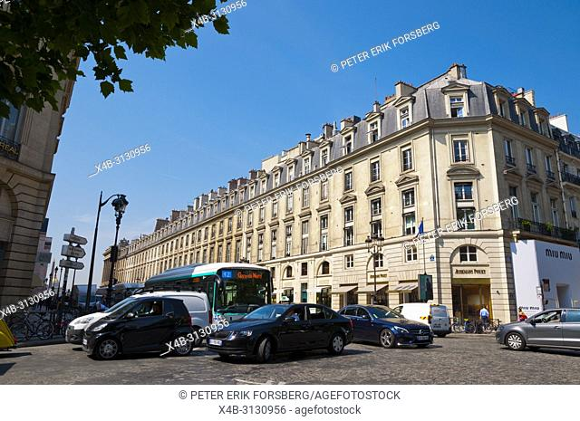 Traffic jam, traffic congestion, Rue Royale, Paris, France