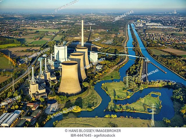 RWE power plant, Werne, Ruhr district, North Rhine-Westphalia, Germany