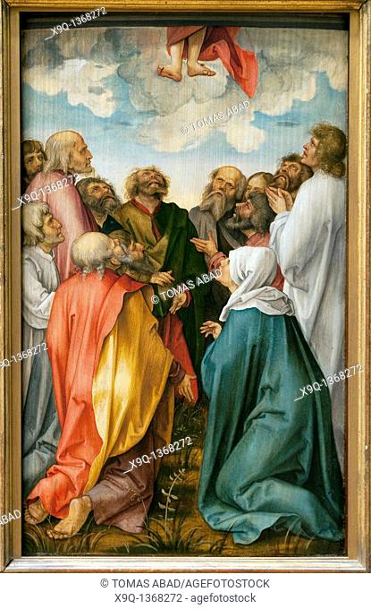 The Ascension of Christ, by Hans Suess von Kulmbach, German, Kulmbach ca  1480-1521/22 Nuremberg, Oil on wood Overall 24 1/4 x 15 in  61 5 x 38 1 cm