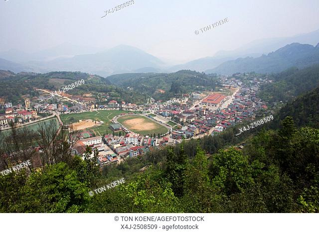 View on Sapa town, Northern Vietnam
