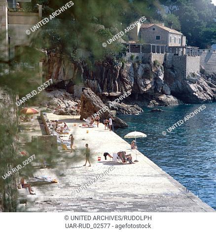 Urlaub im Hotel Excelsior in Dubrovnik, Kroatien, Jugoslawien 1970er Jahre. Vacation in Hotel Excelsior in Dubrovnik, Croatia, Yugoslavia 1970s