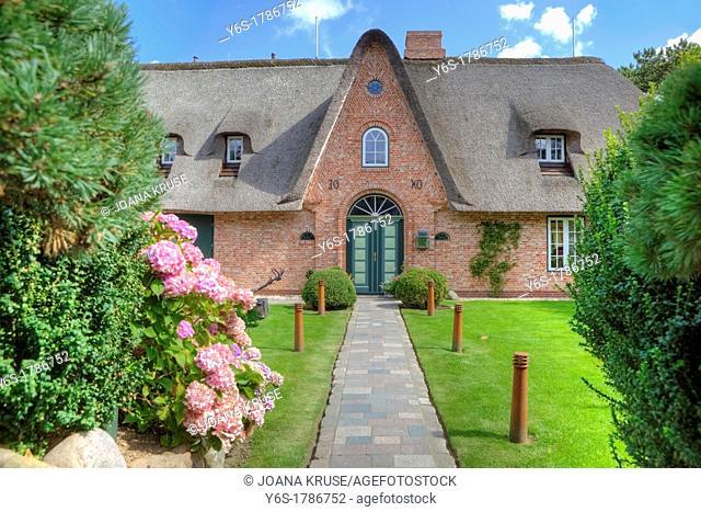 frisian house, Keitum, Sylt, Schleswig-Holstein, Germany