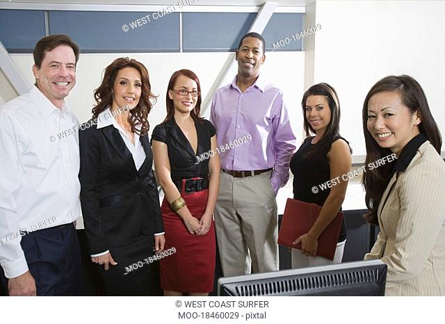 Multi Racial Group of Business People Portrait