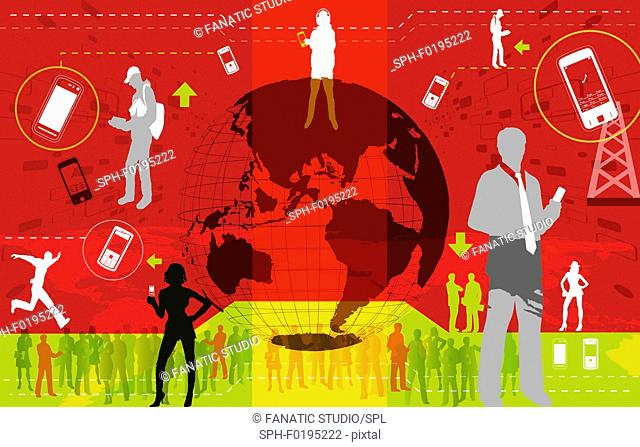 Illustration of global communication
