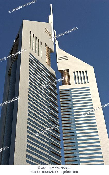 Dubai, the emirate twin towers