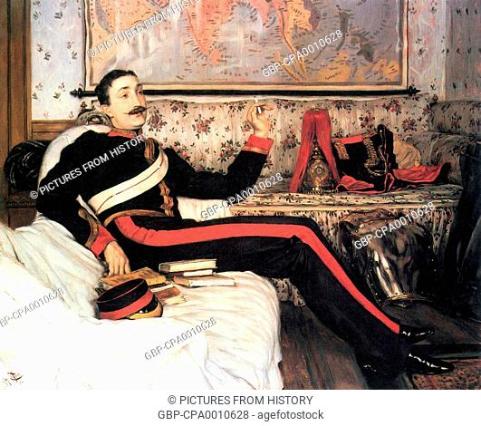 Great Britain: Colonel Frederick Gustavus Burnaby (1842-1855), painted by James Tissot