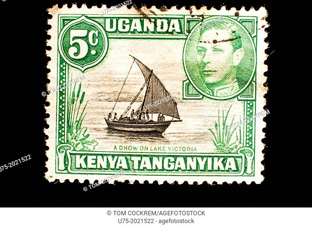 Kenya Uganda Tanganyika postage stamp