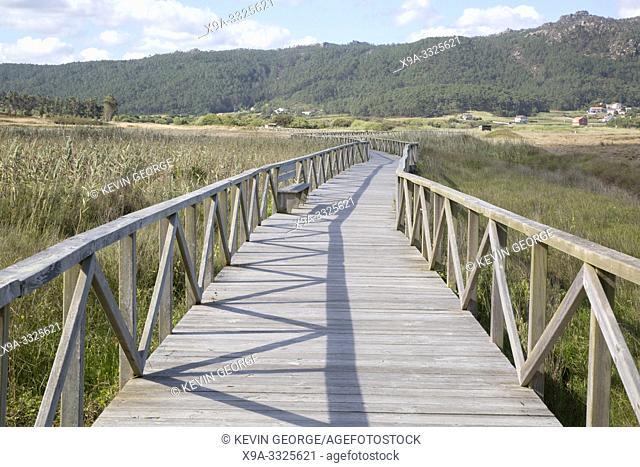 Walkway at Beach in Laxe; Fisterra; Costa de la Muerte; Galicia; Spain