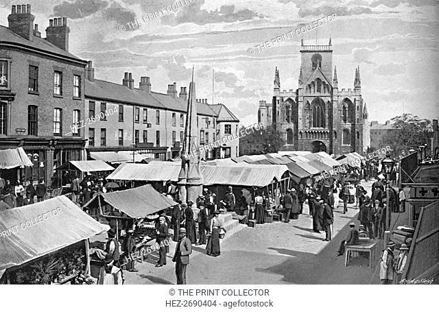 'Market Place, Selby', c1896. Artist: Poulton & Co