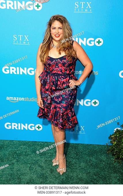 World premiere of 'Gringo' was held at L.A. Live Cinemas in Los Angeles, California Featuring: LIzza Monet Morales Where: Los Angeles, California
