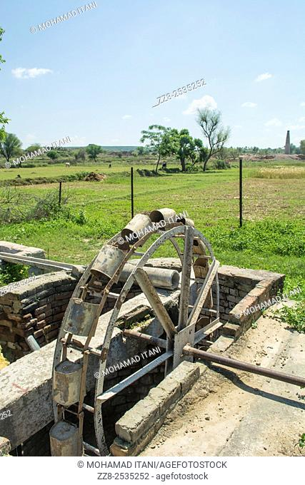 Old water wheel Jehlum Pakistan