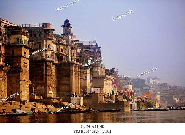 Buildings along Indian river