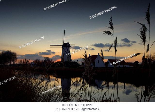 Schellemolen, next to the Damse Vaart, Damme, Belgium