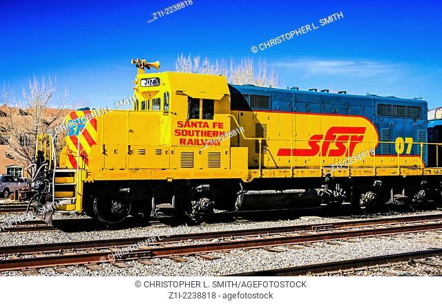 Santa Fe Southern Railway bright yellow locomotive