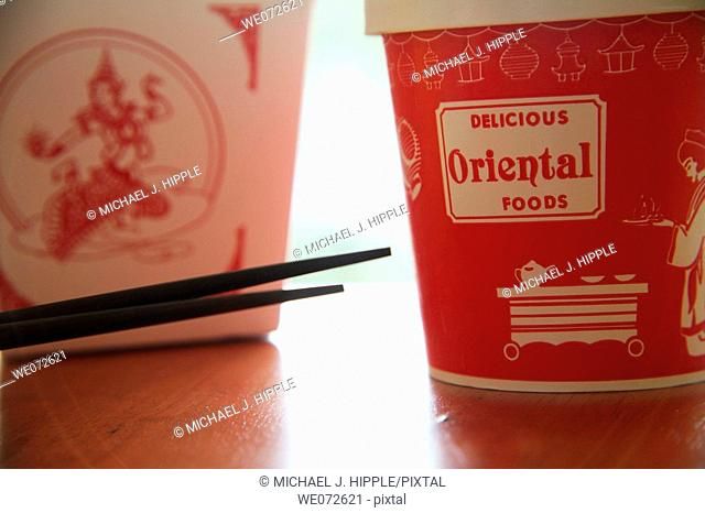 Chinese food take out boxes